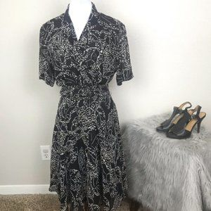 Dana Buchanan 100% silk fit and flare dress sz 10